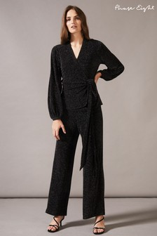 Phase Eight Black Stardust Co-ord Trousers
