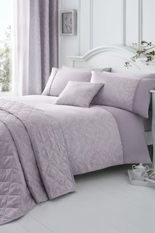 Ebony Jacquard Duvet Cover And Pillowcase Set by Serene