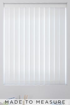 Room Darkening White Made To Measure Vertical Blind