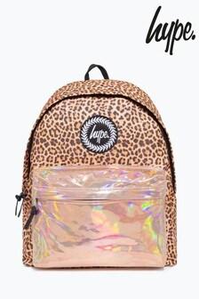 Hype. Leopard Print Holographic Pocket Backpack
