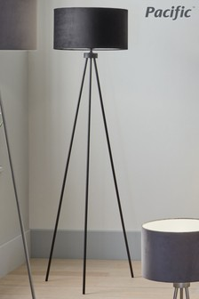 Houston Black Matt Tripod Floor Lamp by Pacific Lighting