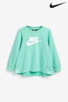Nike Little Kids Turquoise Futura Crew Sweater