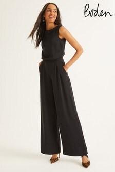 Boden Black Clarissa Jumpsuit