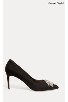 Phase Eight Black Shae Sparkle Front Court Shoes
