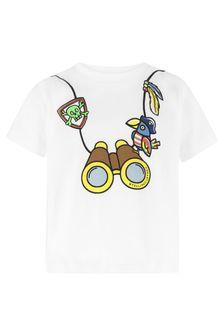 Stella McCartney Kids Baby Boys White Cotton T-Shirt