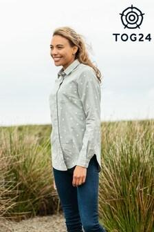 Tog 24 Grey Dotty Womens Long Sleeve Shirt