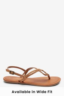 Forever Comfort® Double Plait Toe Thong Sandals