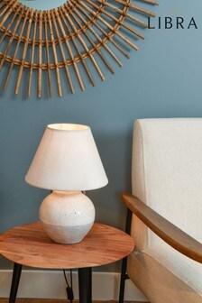 Libra Skyline Grey Porcelain Table Lamp