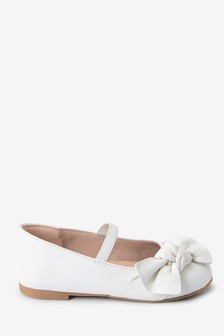 Leather Bow Ballet Shoes (Younger)