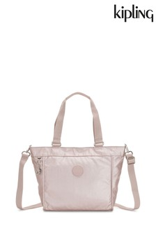 Kipling Rose Gold New Shopper Small Shoulder Bag