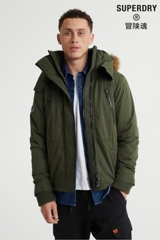 Superdry Microfibre Faux Fur Hooded SD-Windattacker Jacket