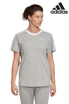 adidas Grey Essential Boyfriend Fit T-Shirt
