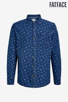 FatFace Tall Blue Smudge Print Shirt