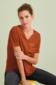 Satin Pocket Utility T-Shirt