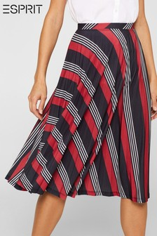 Esprit Black Pleated Midi Skirt