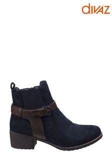 Divaz Ivana Block Heel Ankle Boots
