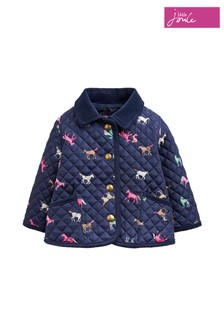 Joules Blue Mabel Quilted Coat