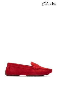 Clarks Red Suede C Mocc2 Shoes