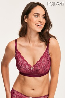 Figleaves Purple Juliette Lace Bralette