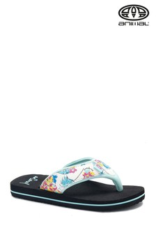 Animal Black Swish Upper All Over Print Flip Flops