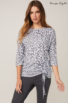 Phase Eight Blue Jinny Print Top