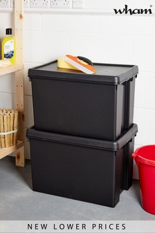 Set of 2 Bam 62L Heavy Duty Recycled Boxes by Wham