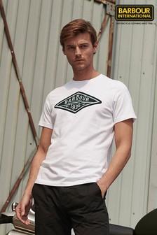 חולצת טי של Barbour® International דגם Compressor בלבן