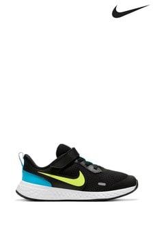 נעלי ספורט לילדים ונוער של Nike דגם Revolution 5 בשחור/אפור