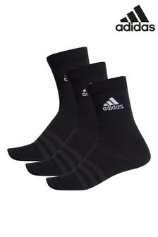 adidas Adult Black Lightweight Crew Socks Three Pack