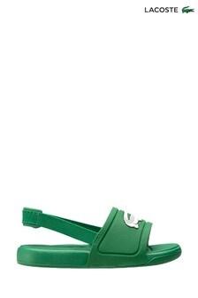 Lacoste Infant Green White L30 Sliders
