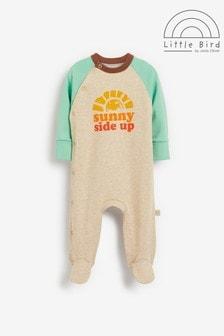 Little Bird Slogan Sleepsuit
