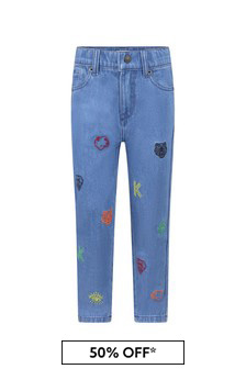 Boys Blue Denim Logo Jeans