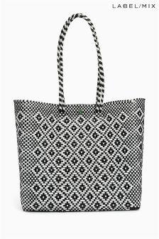 Mix/Zocalo Geo Hand Woven Medium Bag
