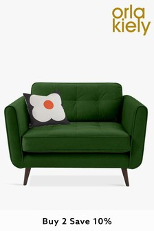 Orla Kiely Ivy Snuggle Sofa with Walnut Feet