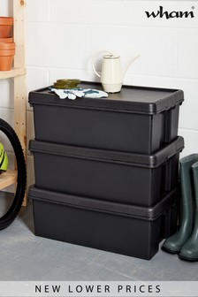 Set of 3 Bam 36L Heavy Duty Recycled Boxes by Wham