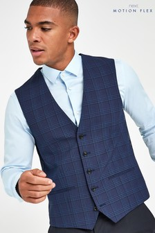 Check Motion Flex Slim Fit Suit