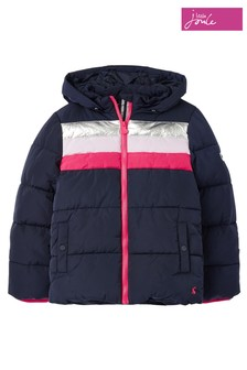 Joules Blue Eleanor Cosy Rainbow Jacket