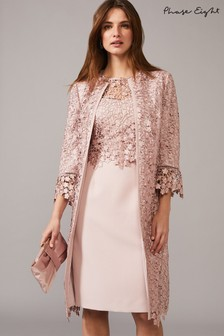 Phase Eight Pink Mariposa Lace Coat