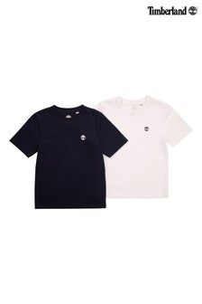 Timberland® Navy/White T-Shirts Two Pack
