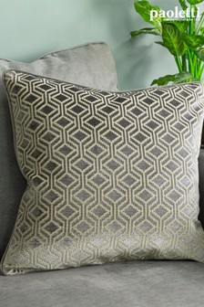 Riva Paoletti Grey Avenue Velvet Jacquard Cushion