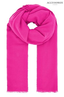Accessorize Pink Wells Supersoft Blanket Scarf