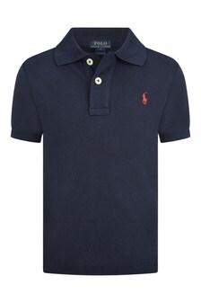 Boys Navy Blue Classic Polo Top