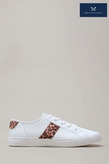 Crew Clothing Company Animal Leather Trainers