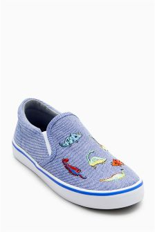 Dinosaur Slip-On Shoes (Younger)