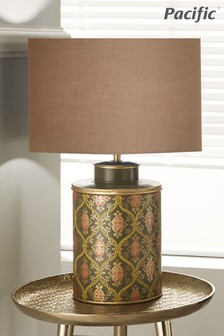 Pacific Green Ogee Patterned Table Lamp