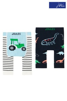 Joules Green Lively Character Leggings Two Pack