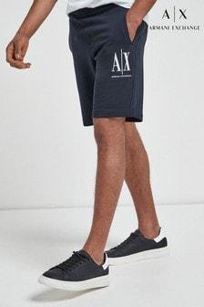 Armani Exchange Icon Logo Jersey Shorts
