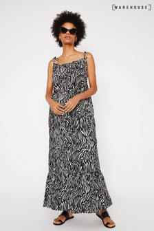 Warehouse Animal Zebra Cami Maxi Beach Dress
