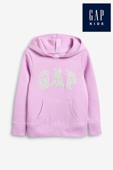 Gap Lilac Girls Logo Hoody