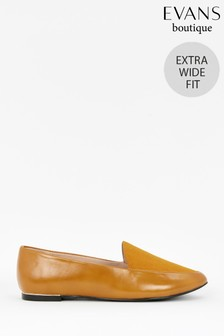 Evans Extra Wide Fit Mustard Loafers